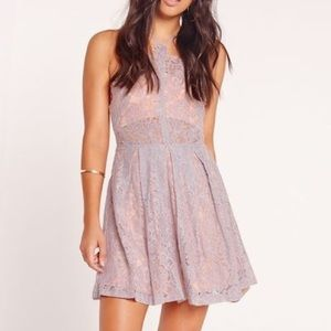 Missguided Strappy Lace Skater Dress